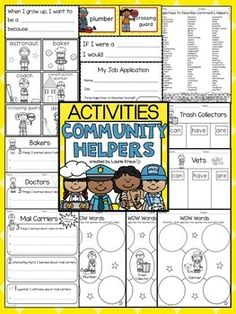 Descriptive words by letter of the alphabet descriptive words list are you teaching your students about community helpers this product provides children with a variety fandeluxe Choice Image