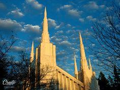 Portland Oregon LDS Temple Desktop Wallpaper