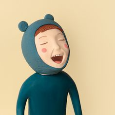 Irma Gruenholz makes these brilliant illustrations from modelling clay