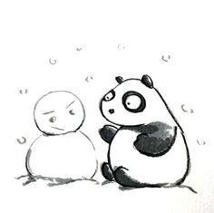 【一日一パンダ】 2014.12.18 いやー降った降った。雪が。 昨夜は仕事場から家に帰るのに 4時間もかかってしまったよ。 車を運転される方は、冬用タイヤや チェーンの装着をお願いしますよ。。。