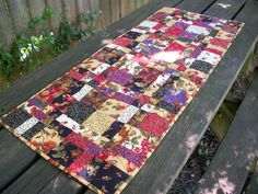 Fall Autumn Table Runner Handmade Quilted by atthebrightspot, $62.00