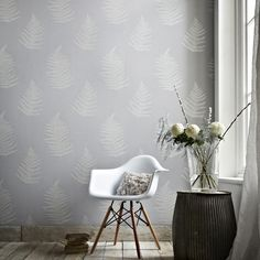 Soft botanical fern with stunning texture and mica deboss leaves. Material: Non-Woven - Washable - Paste the Wall Match Type: Straight Pattern Repeat: 25 in. Roll Dimensions: 20 inches wide x 33 feet