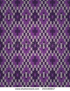 Seamless Orchid Color Knitted Pattern. Style Knit woolen jacquard ornament texture. Fabric color tracery background