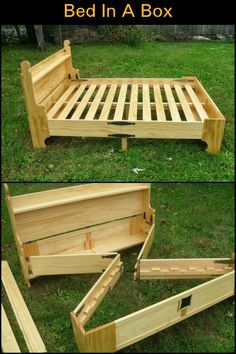 Save Space in Your Guest Room by Building This Bed That Transforms into a Box When Not in Use!