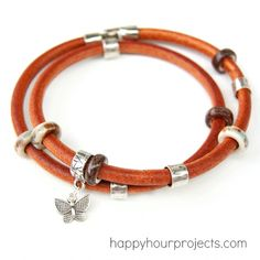 Quick and Easy Leather Wrap Bracelet 08/26/2013 | 9 Comments