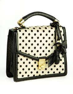 Lovely! Olivia Rose Polka Dot Satchel Bag
