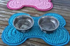 Crochet Dog Bowl Mat Pattern Free Tutorial