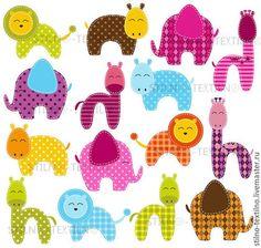 Термо-аппликация для кукольной одежды - животные