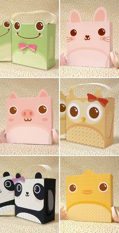 Printable Animal Gift Boxes from Jinjerup