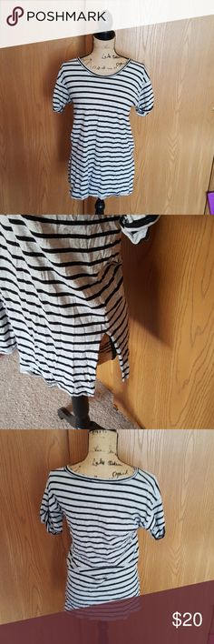Small j.crew t-shirt. Grey with black stripes. Small j.crew t-shirt. Grey with black stripes. Like new J. Crew Tops Tees - Short Sleeve
