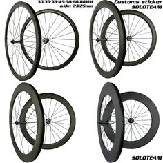Cheap road bike carbon wheelset, Buy Quality carbon wheelset directly from China bike carbon wheelset Suppliers: soloteam custom Sticker carbon wheels 38mm 45mm 50mm 60mm 88mm carbon bicycle wheels wide 23/25mm 700C road bike carbon wheelset