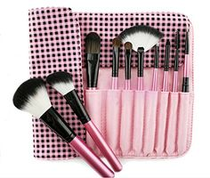 Professional makeup artist makeup brush 10 PCS pink Cosmetic brush -- You can find out more details at the link of the image.