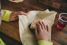 These sandwich wraps are so clever! From http://www.beeswrap.com/collections/sandwich-wrap/products/sandwich-wrap.