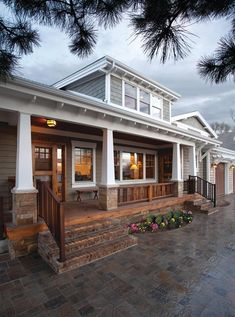Tolerant channeled farmhouse porch design i thought about this Front Porch Railings, Front Porch Design, Front Porch Pillars, Front Porch Posts, House With Porch, House Front, Style At Home, Front Porch Remodel, Craftsman Porch