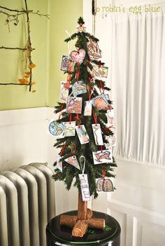 Jesse Tree- a fun tradition for your family referencing scripture to teach on Jesus' birth and what events lead up to it.
