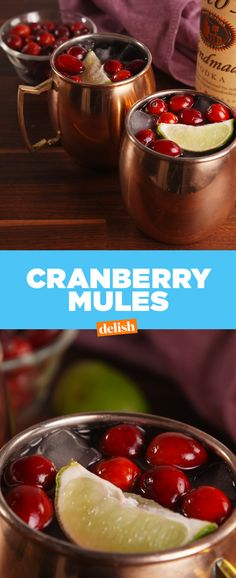 You should have a Cranberry Mule in your hand all Thanksgiving day. Get the recipe at Delish.com. #ThanksgivingRecipes #thanksgivingideas #recipes #EasyRecipes #Cocktail #drinking #moscow #moscowmules #mule #cranberry #alcohol