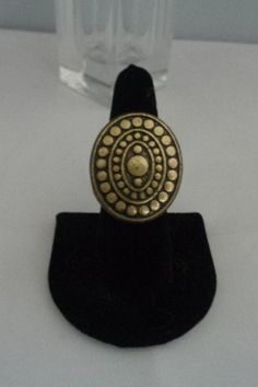 Vintage Goldtone and Brass Statement Ring by CCCsVintageJewelry on Etsy