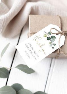 Packaging Ideas Discover Editable Thank You Favor Tags Favor Tag Printable Greenery Eucalyptus Thank You Tag Wedding Welco Wedding Welcome Bags, Wedding Favor Tags, Diy Wedding Favors, Wedding Souvenir, Gift Tags Printable, Printable Invitations, Karten Diy, Wine Tags, Tag Design