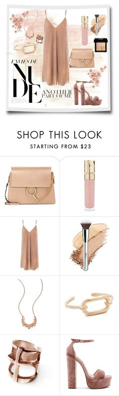 """""""Nude Appeal"""" by neesyrn on Polyvore featuring Chloé, Smith & Cult, Sans Souci, ULTA, Pamela Love, Steve Madden and Givenchy"""