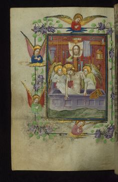 This fine illuminated Book of Hours was produced in two stages in the second and third quarters of the fifteenth century. The manuscript contains eleven full-page miniatures and twenty historiated initials. The first stage of production includes a section attributed to the Masters of Zweder van Culemborg and the calendar (fols. 3r-14v, 52v-211v), while additional prayers illustrated in the style of the workshop of Willem Vrelant were added later in the fifteenth century (fols. 16r-50v…