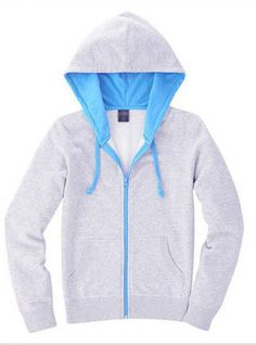 Gray Cardigan zipper Hooded Sweatshirt$43.00