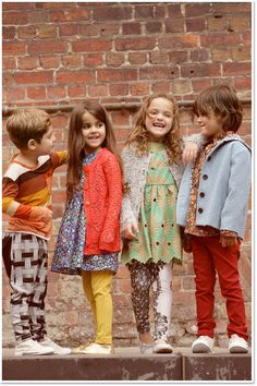 Sewing For Kids Clothes Retro kids Clothes Little Fashionista, Little Girl Fashion, Boy Fashion, Fashion Clothes, Fashion Jewelry, Kid Styles, Sewing For Kids, Kind Mode, Kids Wear