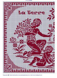 Filet Crochet, Crochet Chart, Crochet Patterns, Stitch And Angel, Cross Stitch Angels, Cross Stitch Flowers, Cross Stitch Samplers, Cross Stitching, Cross Stitch Designs