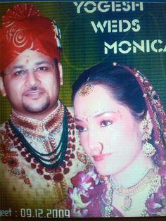 Matrimonio efectuado en la India, pareja de amigos mios