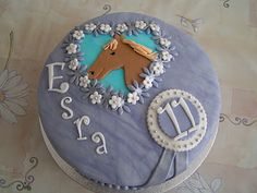 Purple pony birthday cake
