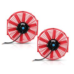 """2x Black 14/"""" High Performance Electric Cooling Pull Slim Radiator Fan For GMC"""