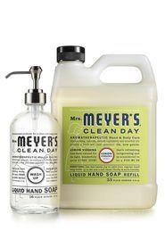 Lemon Verbena Glass Hand Soap + Refill Set