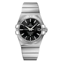 Omega Gents stainless Steel Constellation Automatic Watch Black Baton dial    Manufacturer code:  12310382101001    Rudell code:  6611-1919    £3,700.00  www.rudells.com