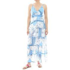 Ρούχα : Φόρεμα μακρύ με ράντες και σφηκοφωλιά στην πλάτη