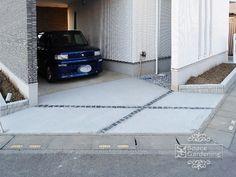 駐車場 コンクリート 目地 ピンコロ