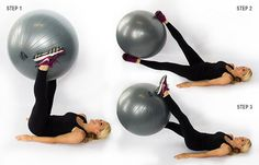 Stability Ball Twists: want to tone your legs AND your core? This is the move for you!