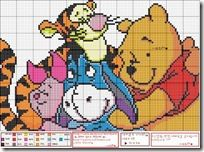 Cross Stitch: Winnie the Pooh http://conpuntodecruz.blogspot.com/search/label/Winnie%20the%20Pooh