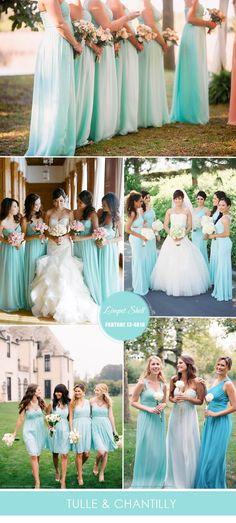 A veces elegir el color de las damas es tarea difícil, pero creemos que el color menta puede ser una gran opción para tu boda.