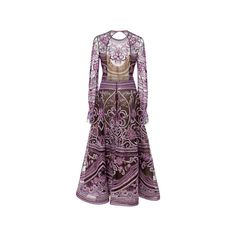 Emilio Pucci Long Sleeve Embroidered Dress ($4,667.54)