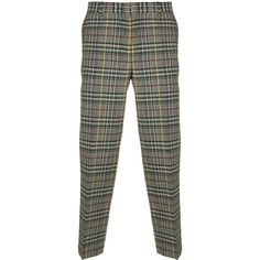 MSGM checked trousers (24.300 RUB) ❤ liked on Polyvore featuring men's fashion, men's clothing, men's pants, men's casual pants, green, mens green pants and mens checkered pants