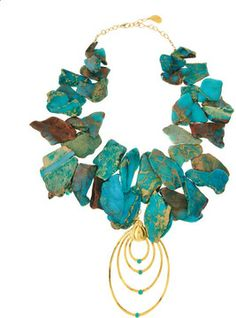 Devon Leigh Blue African Opal Necklace on shopstyle.com