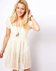 ASOS Crochet Smock Dress on shopstyle.com
