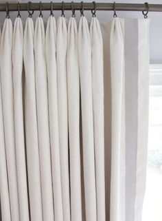 Custom Euro Pleated Drapes In Kravet Linen (Comes In 50 Colors) With Samuel  U0026 Sons Grosgrain Ribbon Trim