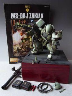 pbqjh776's Diorama: MG 1/100 MS-06J ZAKU II Ver.2.0 Amazing Paint Job! Full Photo Review, Info http://www.gunjap.net/site/?p=296590