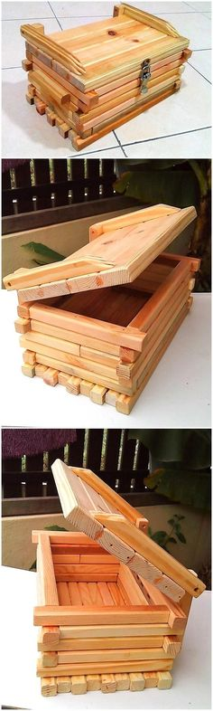 In every home, there are some valuable items that need to be placed in a safe. But if there is no safe in a home, then this idea of creating chest box is easy for which just the pallets need to be arranged and pinned creatively to make it give a different look.