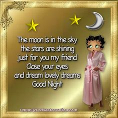 good night comments, sweet dreams, good night quotes, Betty Boop comments