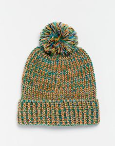 ASOS+Bobble+Beanie+In+Multi+Twist Beanies, Fashion Online, Asos, Winter Hats, Turtle Neck, Sweaters, Pullover, Beanie, Sweater