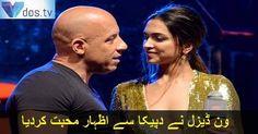 #vandiesel #DeepikaPadukone #love #propose #bollywoodactress #hollywood #Vdos #beautiful