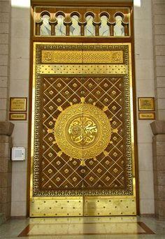 Mosque in Madina, Saudi Arabia.