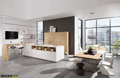 Nolte Artwood is a range of kitchens which perfectly create the illusion of real wood. Available in our handleless range at our Hertfordshire kitchen showroom. Real Kitchen, Open Plan Kitchen, Kitchen Decor, Küchen Design, Layout Design, Design Ideas, Timeless Kitchen, Kitchen Showroom, Scandinavian Kitchen