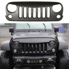 BLK Angry Bird Grille Grill for 2007-2014 Jeep Wrangler Rubicon Sport Sahara JK